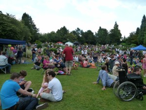 Crowd in the park