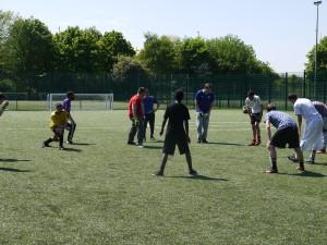 Yep playing football
