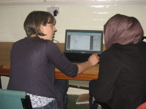Training on the computer