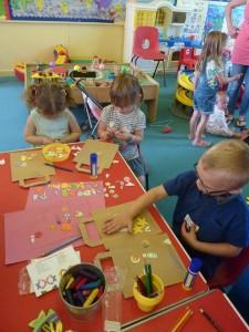 Craft activities action shot
